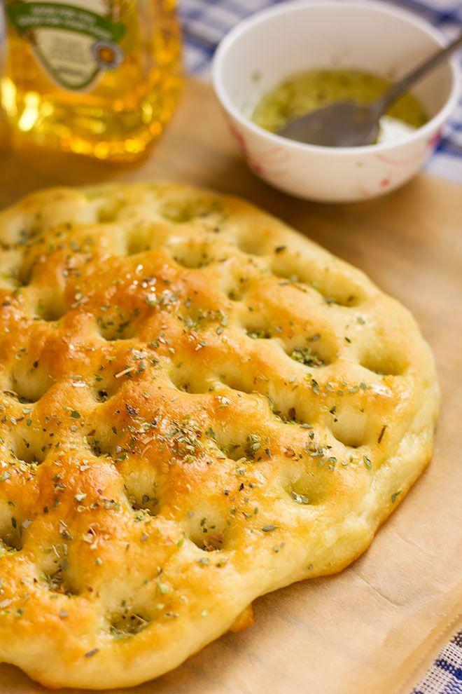 Easy Focaccia Bread Recipe, Easy Bread Recipes, Banana Bread Recipes, Baking Recipes, Scd Recipes, Focaccia Pizza, Italian Focaccia Recipe, Savory Bread Recipe, Desert Recipes