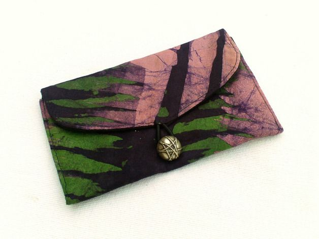 "Earthy colors at DaWanda Tobacco Pouches – Tobacco pouch/Small pocket ""purple/khaki B... – a unique product by Dlfine on DaWanda"