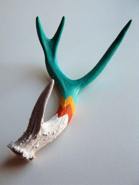 painted antlers.