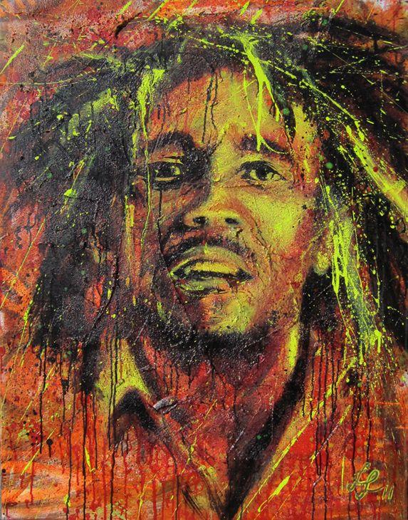 'Bob Marley' · 90x120cm · acrylic on canvas · © Sander Van Stijn · 2013