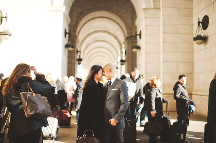 Union Station Washington DC Engagement Session 550x365 DC Engagement: Carmela + John