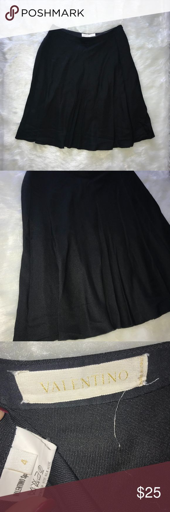 Valentino Spa EUC Black Flare Mini Skirt Size 4 Valentino Spa Excellent Used Condition  Mini Flare Skirt Black Size 4 Valentino Skirts Mini
