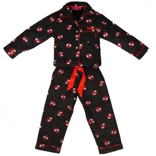Meisjespyjama lieveheersbeestjes flanel http://www.pyjamaonline.nl/flanellen-kinderpyjama-lieveheersbeestjes.html