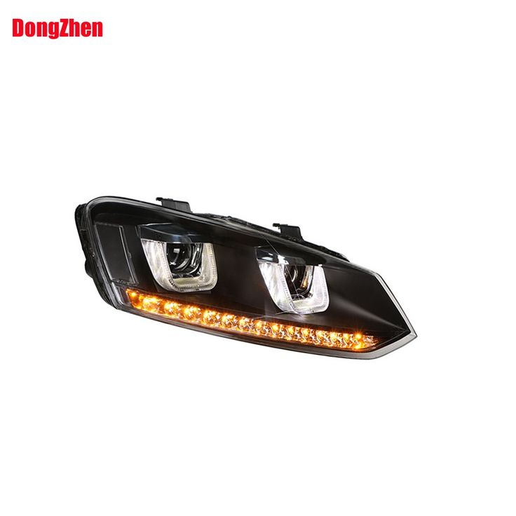 445.09$  Buy here - http://aligck.worldwells.pw/go.php?t=32596848863 - Dong Zhen  headlight with Bi-Xenon Projector with 12 LED light headlight car styling Fit for VW Cross Polo 2012-2015