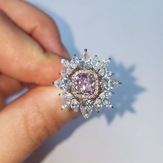 Fine Gemstones & Jewelry (@thediamondsguy) on Instagram: Available!! Gorgeous fancy purplish Pink and colorless diamond…""