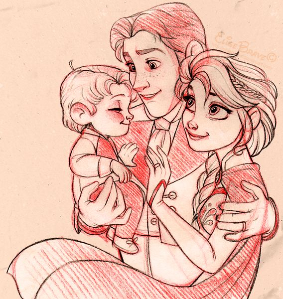 Helsa family I don't ship this, but it's nice to see Elsa with a family instead of just Anna.
