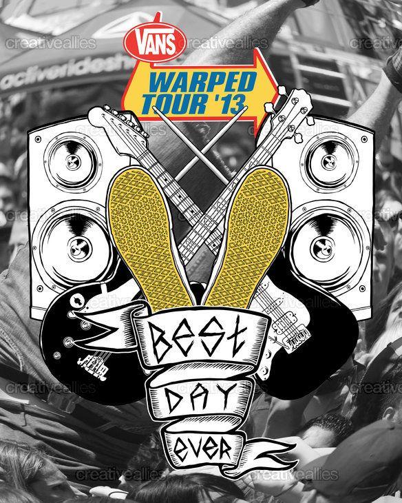 Vans Warped Tour Poster by Carlos Guzmán on CreativeAllies.com