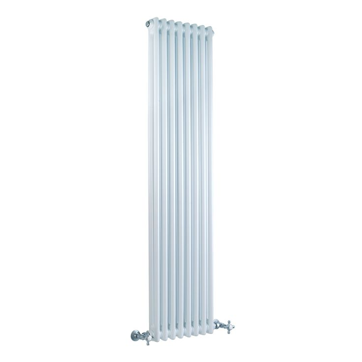 "Traditional 8 x 2 Column Radiator Cast Iron Style White 59"" x 14"" for Closed Loop Systems"