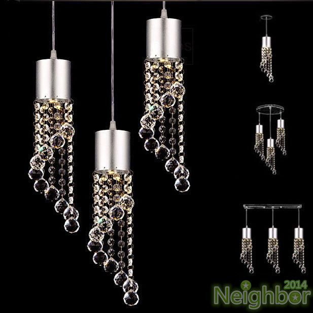 Modern Crystal LED Chandelier Ceiling Lights Pendant Lamps Dining Room Lighting