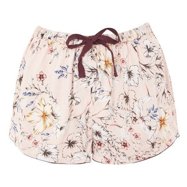 Women's Topshop Sketchy Floral Pajama Shorts ($26) ❤ liked on Polyvore featuring intimates, sleepwear, pajamas, floral pjs, long pajamas, topshop pyjamas, topshop pjs and topshop sleepwear