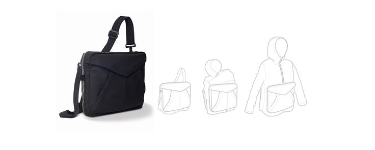 From bag to jacket. A bag designed to hold personal items, which in a few seconds changes its function and its use… #bag #jacket #backpack #changing #metamorphosis #multifunctional #design #products