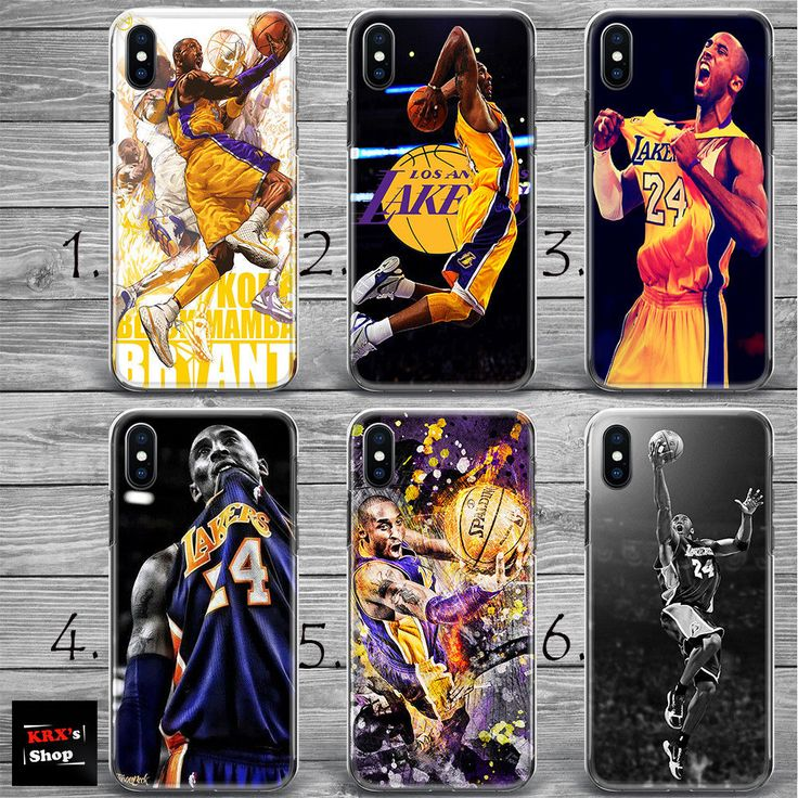 Basketball Lakers Kobe Bryant THIN plastic silicone case cover NEW iPhone X 8+
