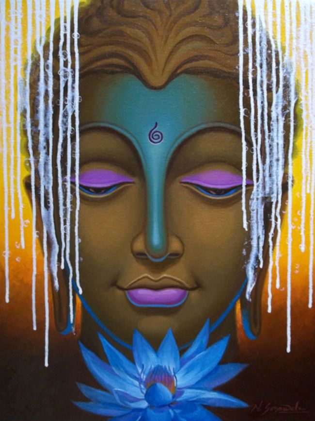 Buy Paintings Online by Artist Nitin Sonawale - Lord Buddha-7 - CE101310
