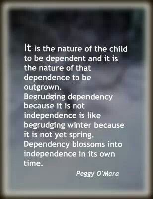 Yesss. Babies are supposed to be dependent. When we meet their needs consistently, they grow into independent people. Attachment Parenting