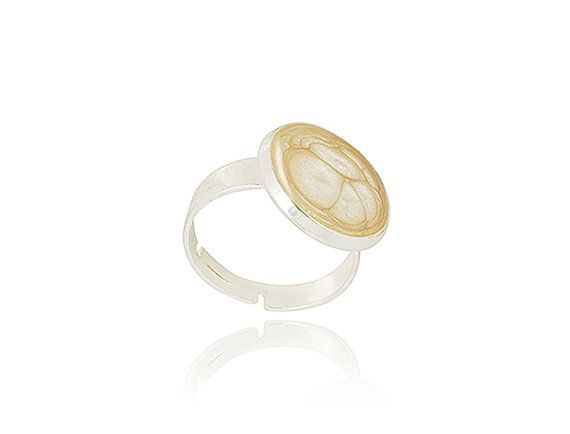 Bridesmaid's jewelry Adjustable champagne ring by DragonPorter