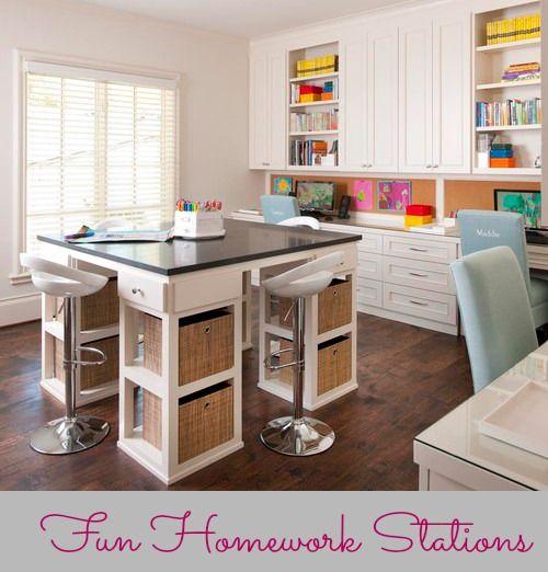 Homework Stations for Kids