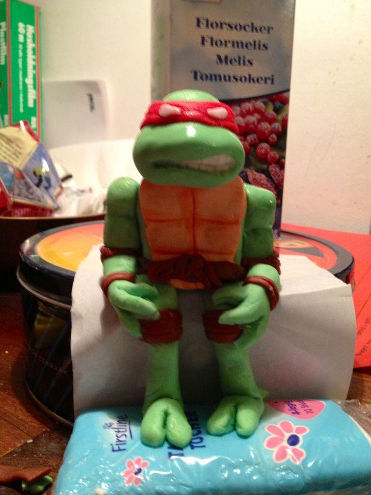 Fondant ninja turtle