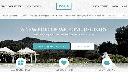 Zola is an online wedding registry that couples can use to list any item from any store, lets users purchase in groups, and even provides the option for guests to pitch in towards a couple's honeymoon or cash fund (perhaps for a down payment on a new home)–all in one easy place. Zola also just launched an iPhone app, allowing couples to create and manage their registry on-the-go and receive access to all of the benefits of the site.