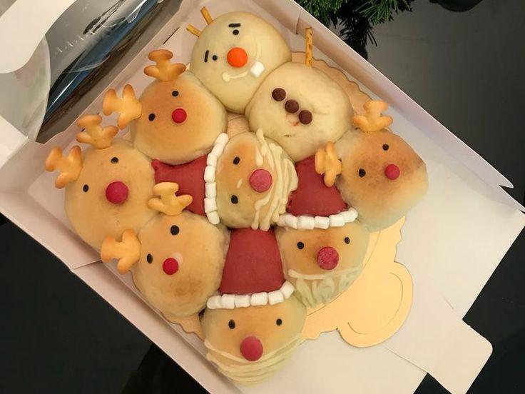 聖誕老人麋鹿雪人造型麵包