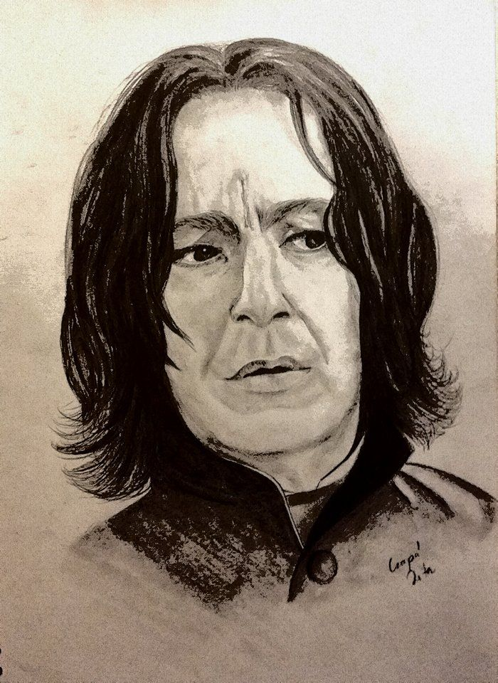 Severus Snape graphic pencil