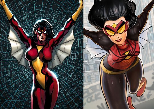 Updated Jessica Drew, The Spider-Woman.