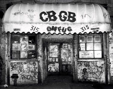 CBGB in the 70's and 80's: The birthplace of the Ramones, Blondie, and many other bands; it was the place that inspired punk and new wave music around the world.