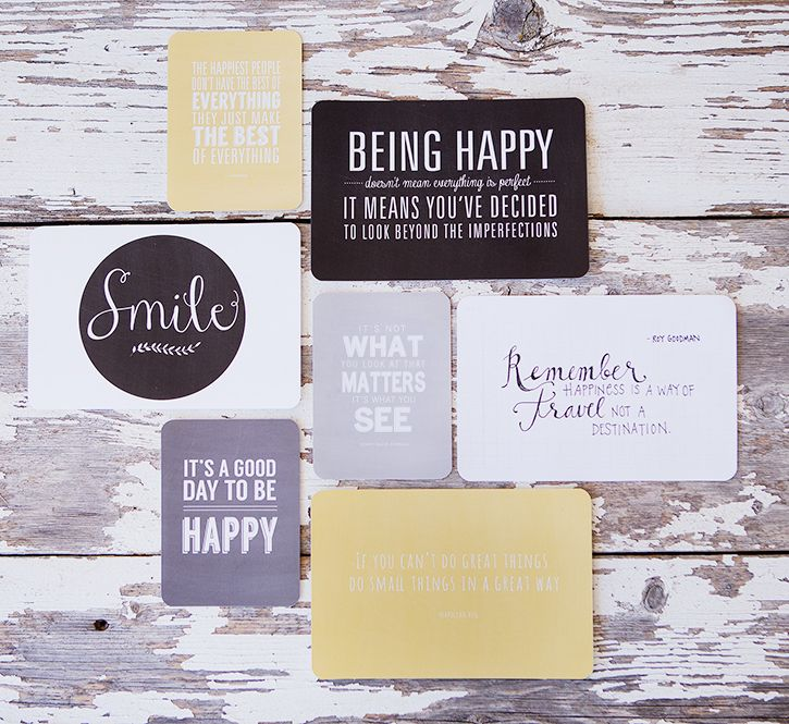 simple as that: Favorite Quotes Mini Album : Be Happy Collection