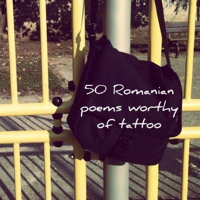 50 great Romanian poems.