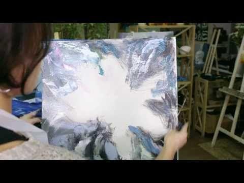 Картина за 7 минут! Цветок настроения / Painting in 7 minutes! Flower - YouTube