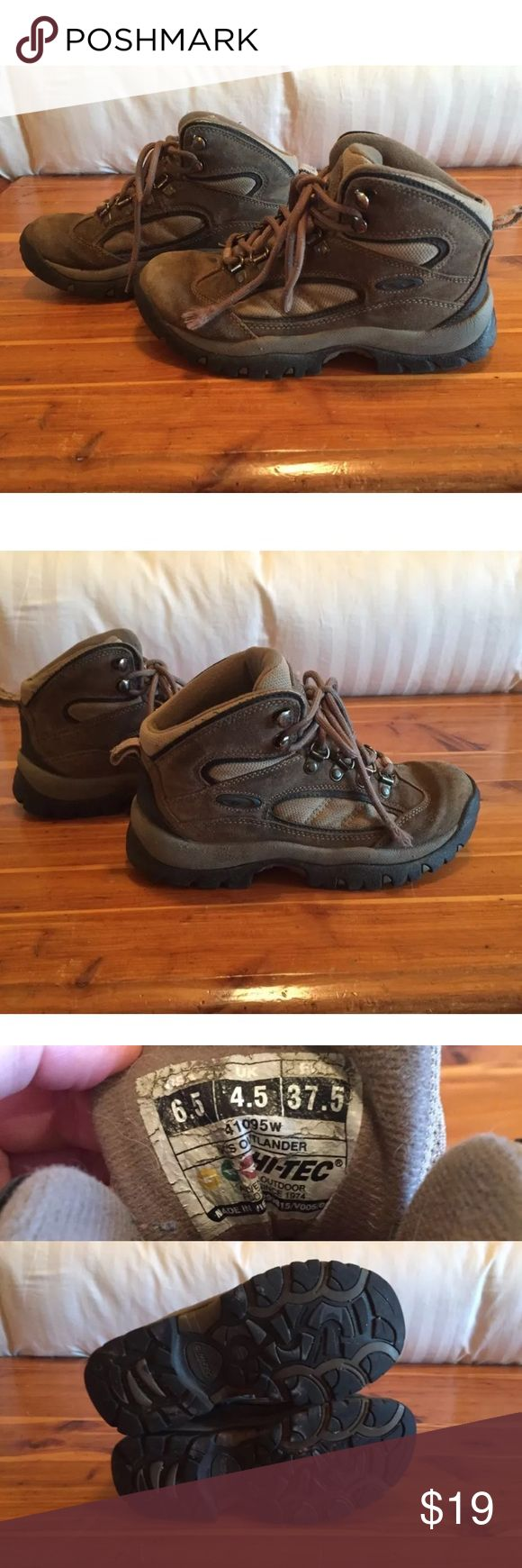 Hi-Tec Outlander Hiking or Work Boots Great pair of hiking boots. Well-loved but lots of love left! Hi-Tec Shoes Winter & Rain Boots