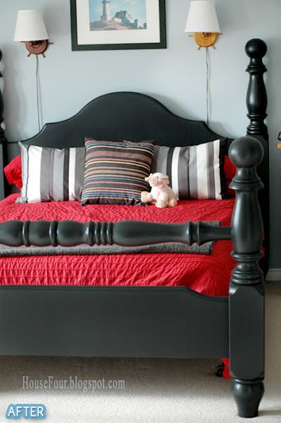 (you should look at how the bed frame looks beforehand.)   Better After: Tarred and Bettered
