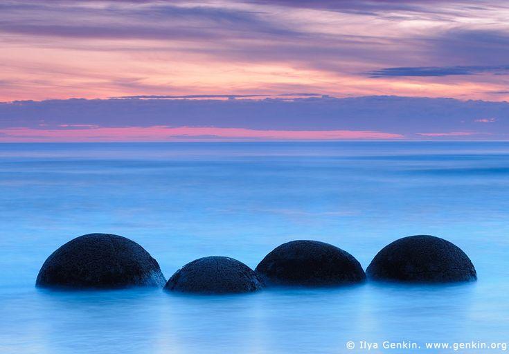 Moeraki Boulders at Dawn, Otago, South Island, New Zealand