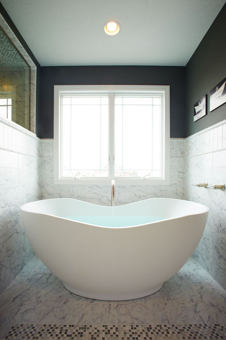 Best Images About Guest Bathroom Remodel On Pinterest Soaking - Freestanding tub against wall