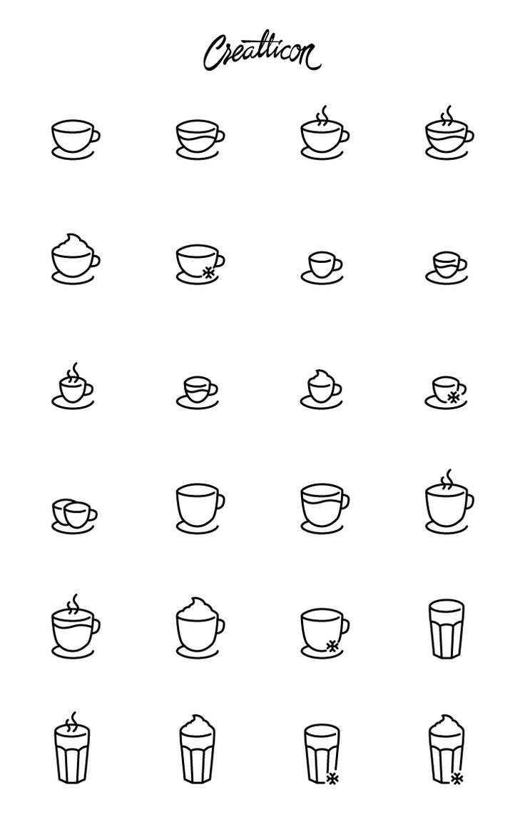 Coffee shop icon set consists of 24 different line-style vector icons for easy resizing and fast customization of colors or line thickness.