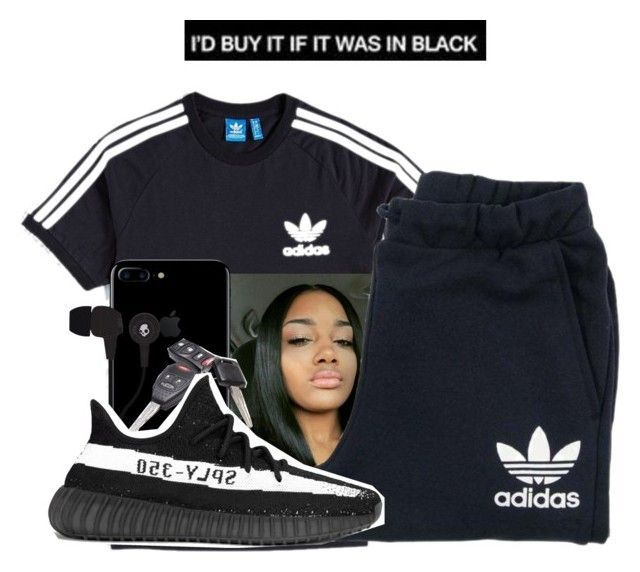 """""""Untitled #723"""" by littydee ❤ liked on Polyvore featuring adidas, adidas Originals and Skullcandy"""