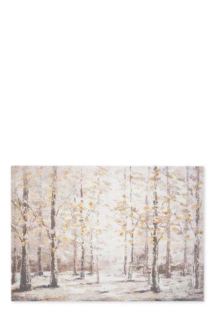 Birch Tree Forest Canvas