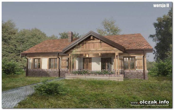 Architekt Maciej Olczak - dom z gankiem