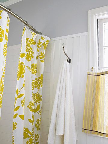 Double curtain, curved rod