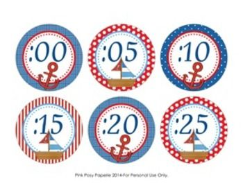 These sweet nautical theme clock numbers are great to help your students tell time. They match the other nautical theme items I have in my store.  The labels measure 3 inches. Print onto cardstock and laminate for sturdiness. Trim and adhere to the wall around your clock.