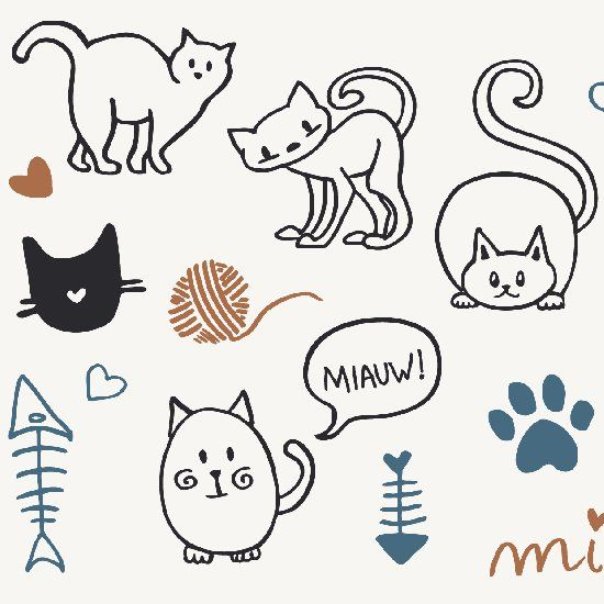 Free cat vectors. These would look adorable in a greeting card or maybe in tags.