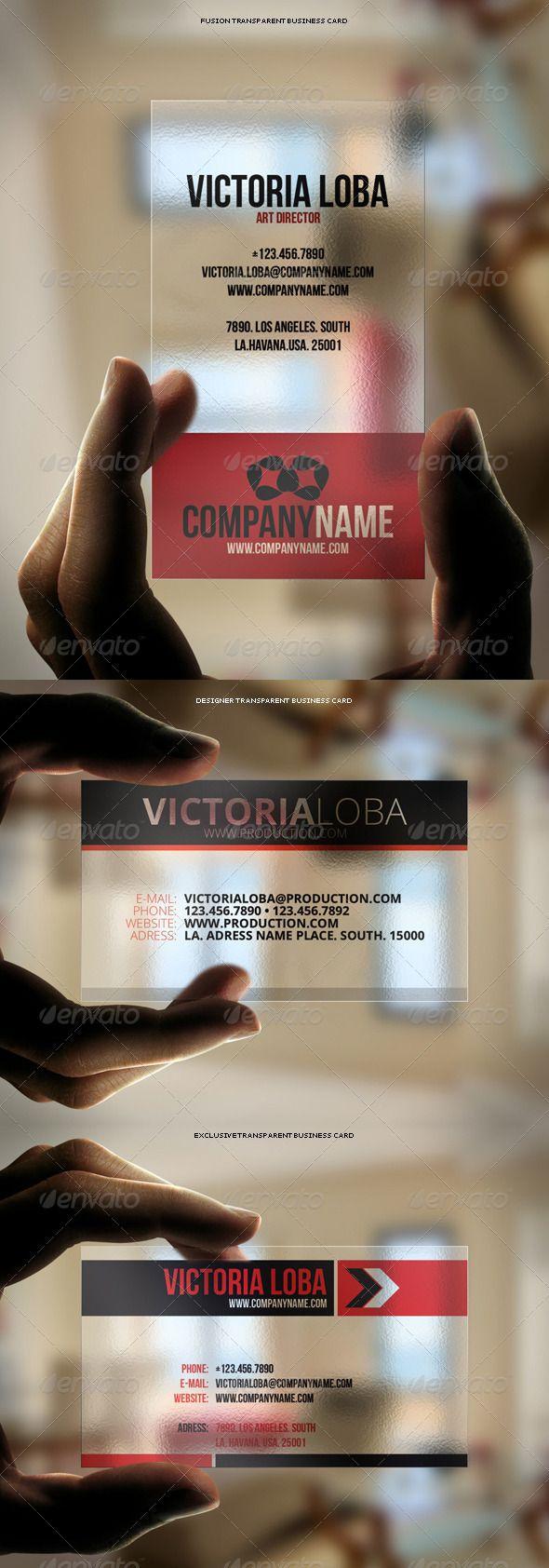 3in1 Transparent Business Cards Bundle #3