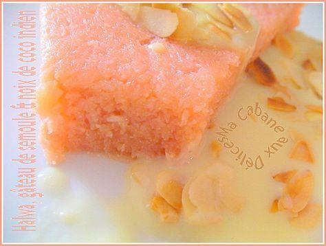 Halwa (gâteau de semoule à la noix de coco)
