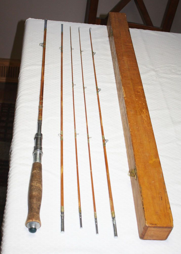 1950s Mayflower Bamboo Fishing Rod Made In Japan Spin