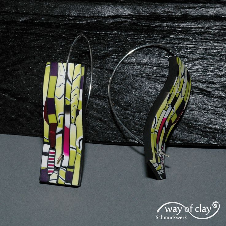 https://flic.kr/p/aEAe1G | earrings | polymer clay, silver Stroppel Cane