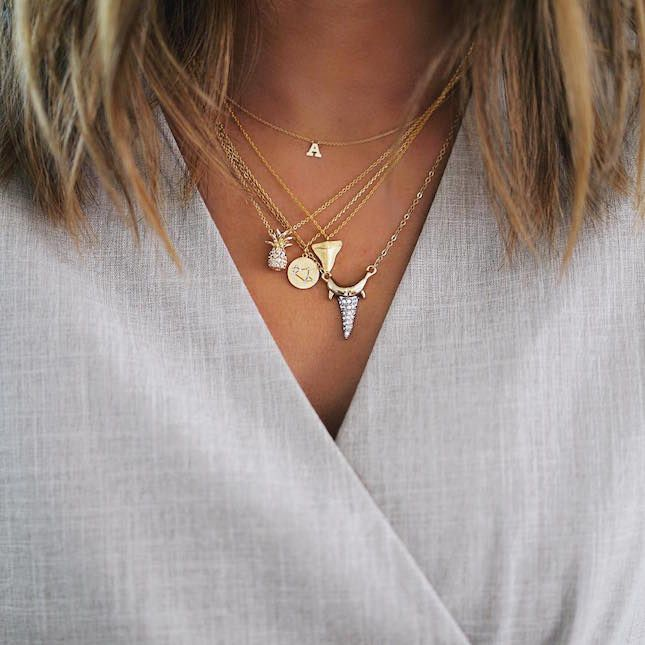 How to Layer Necklaces like This Stylin' Blogger via Brit + Co.