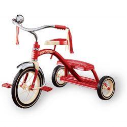 retro rode driewieler