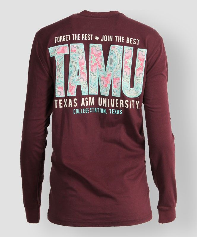 """""""Forget the rest. Join the best"""" Texas A&M long sleeve tee. #AggieGifts #AggieStyle"""
