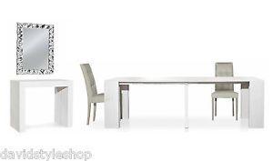 Tavolo Consolle Allungabile Fino 2 95 Metri Bianco Consumato Made IN Italy   eBay