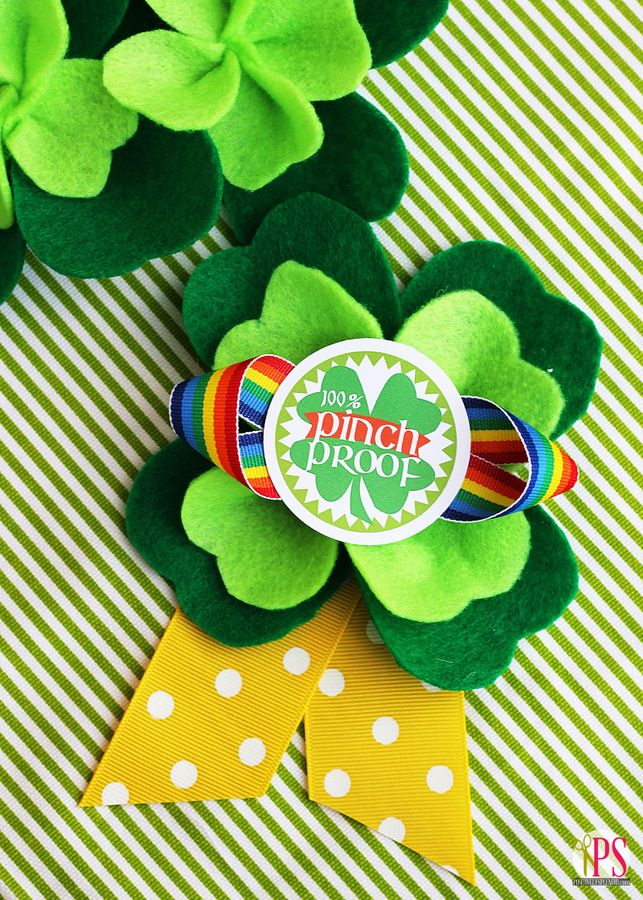 Pinch-Proof St. Patrick�s Day Badges