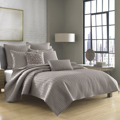 Five Queens Court Catori Coverlet Size: Full/Queen, Color: Charcoal